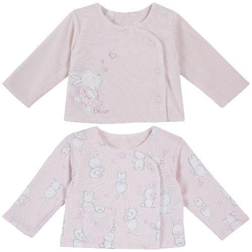 Распашонка Chicco для мальчиков и девочек розовая, размер 56
