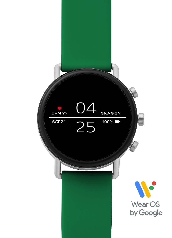 Смарт часы Skagen Falster Black/Green (SKT5114)