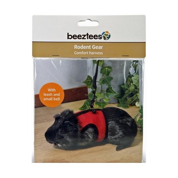 Шлейка-жилетка Beeztees с поводком для грызунов (L, )