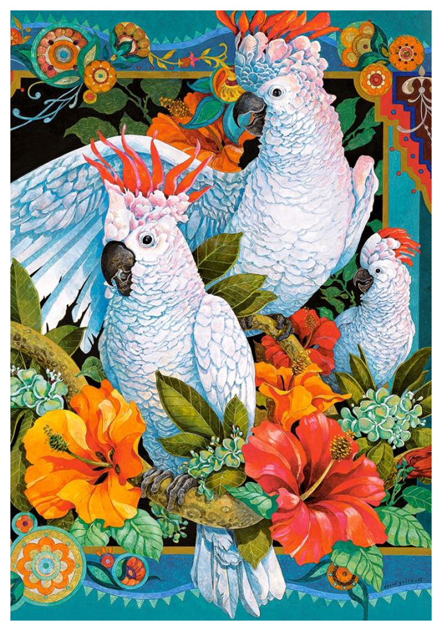Купить Пазл Castorland Белые попугаи 1500 элементов, Пазлы