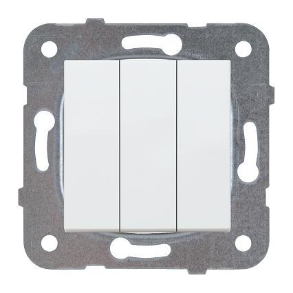 Выключатель 3кл белый Karre Plus