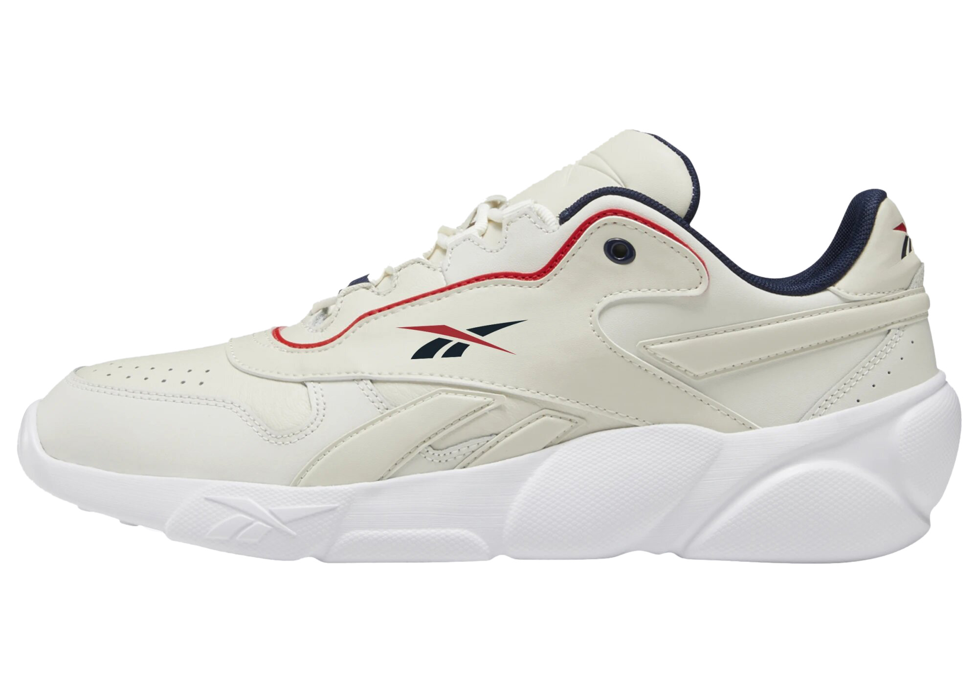 Кроссовки Reebok Premier Classic Leather, white/chalk/white/red/collnavy, 5 US фото