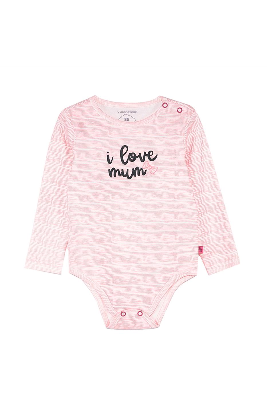 Купить Z19412101BUN, Боди для девочки Coccodrillo, 80 р-р, цв.розовый, Боди для новорожденных