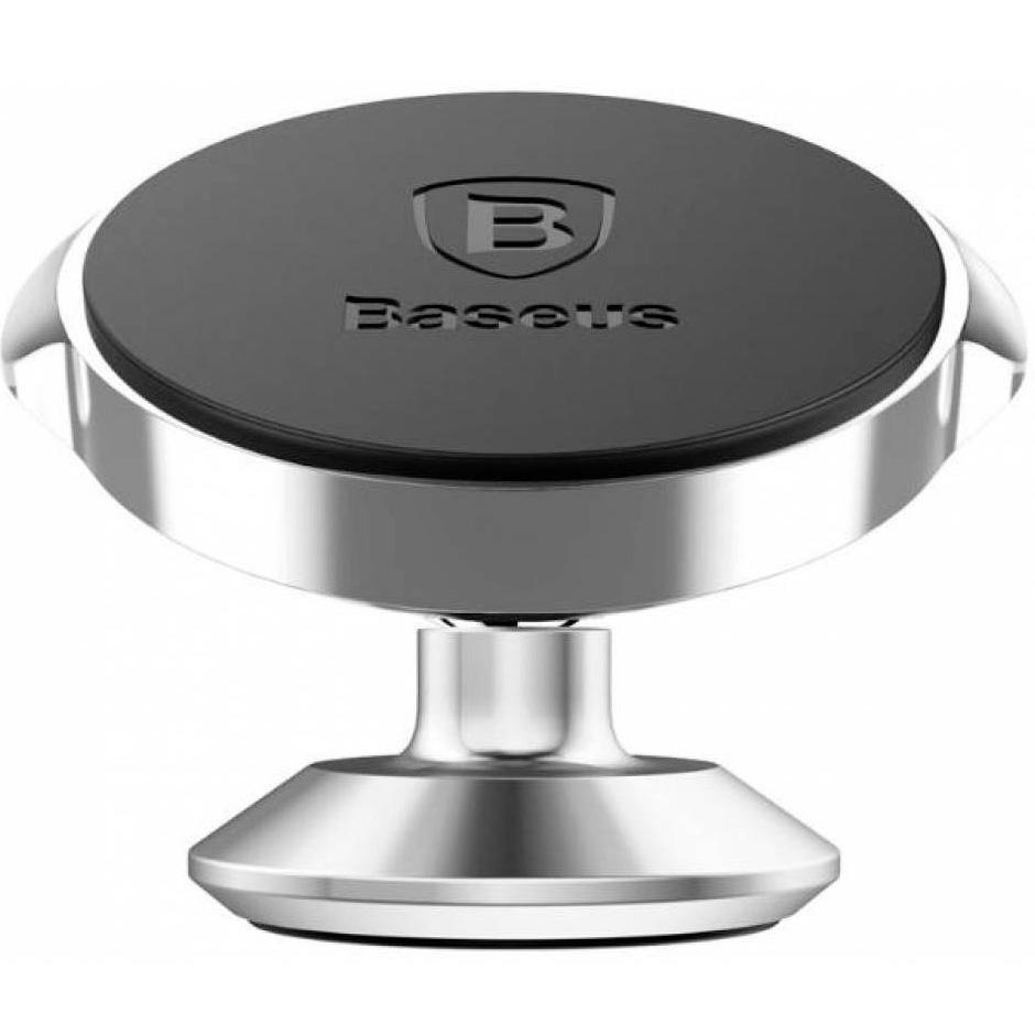 Автомобильный держатель магнитный Baseus Small Ears Series - Серебристый (SUER-B0S)