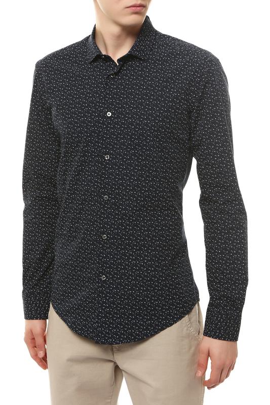 Рубашка мужская BRIAN DALES BS52 ST6989.001 синяя 43 IT