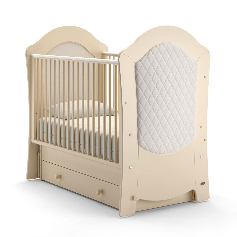 Детская кровать Nuovita Tempi Swing поперечный маятник Avorio, Слоновая кость фото