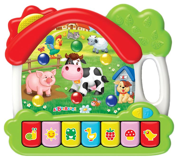 Игрушка Азбукварик Музыкальный домик Ферма 28208-4