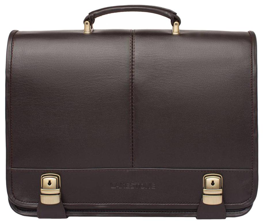 Портфель мужской кожаный Lakestone Canford 943029/BR коричневый фото