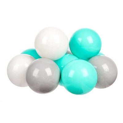 Комплект шариков Мятный бриз (100шт: мят, сер,