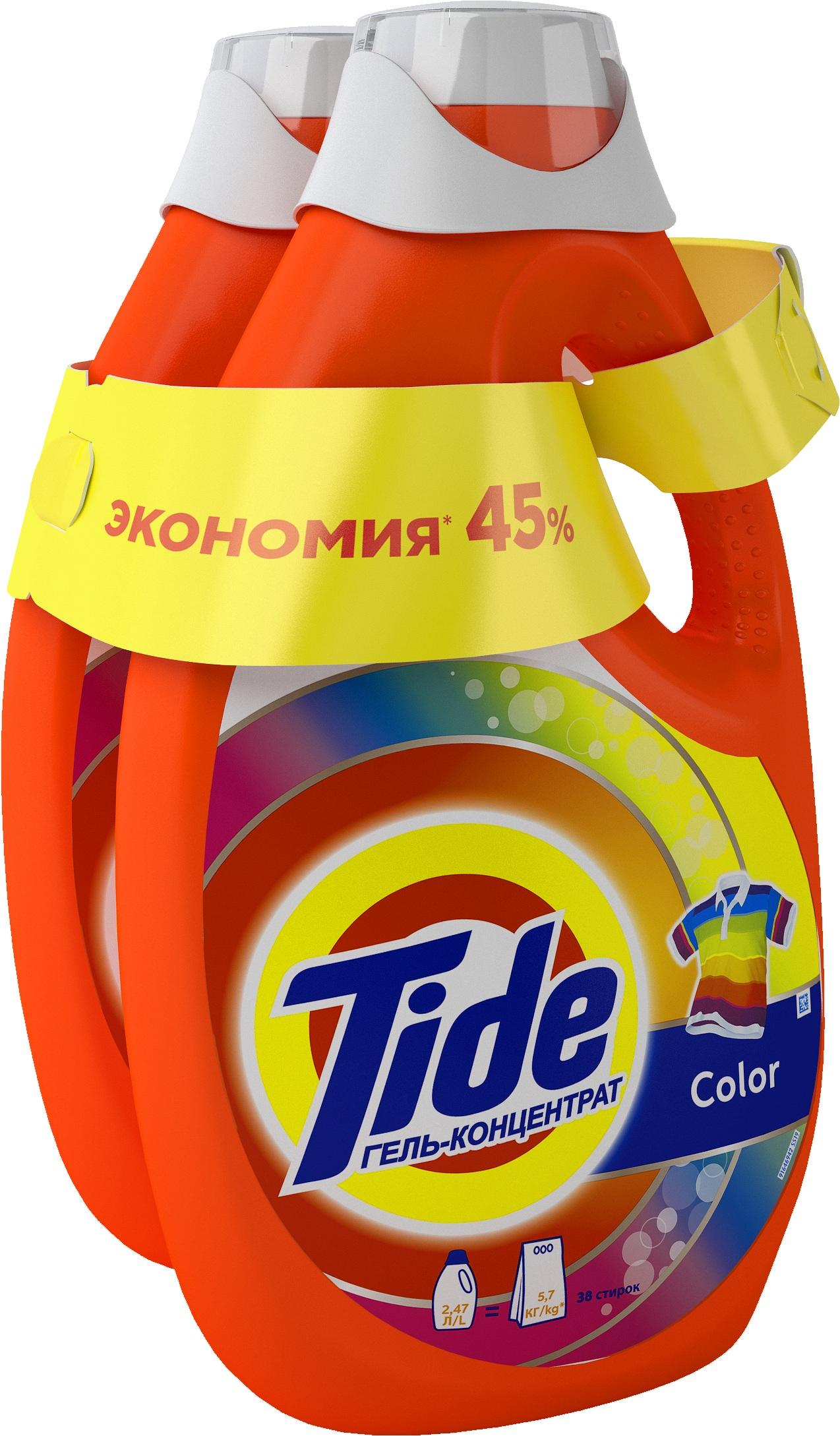 Гель для стирки Tide color 2*2.47 л