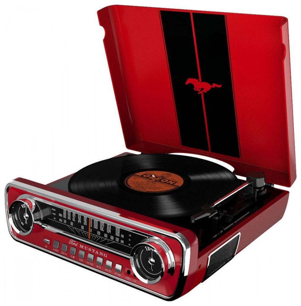 Проигрыватель виниловых пластинок ION Audio Mustang LP Red фото