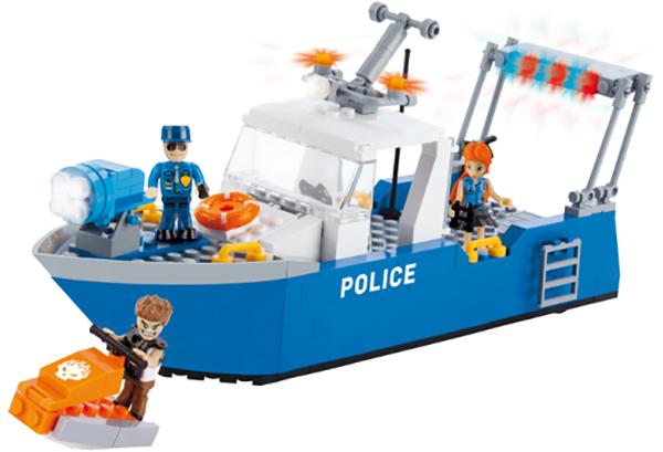 Купить Конструктор пластиковый COBI Полицейский патрульный катер, Конструкторы пластмассовые