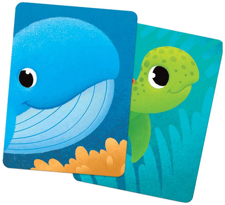 Обучающие Игры Геодом карточная Игра Мемори для Малышей Океан половинки