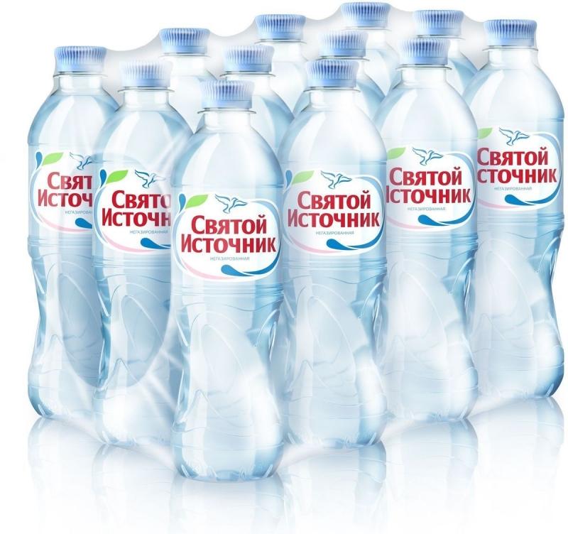 Вода питьевая Святой Источник негазированная 0.5 л 12 штук в упаковке фото