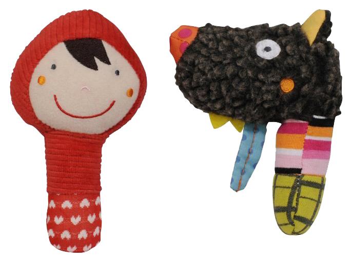 Купить АльДенте Ebulobo Мягкая игрушка Маракасы (Волчонок и Красная шапочка), арт. 01EB0070, Детские музыкальные инструменты