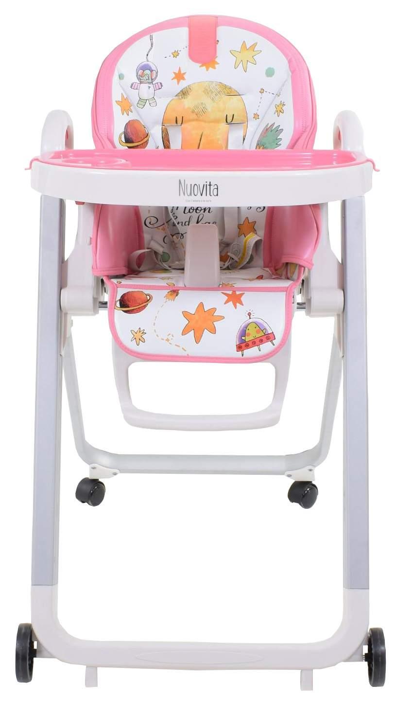 Купить Стульчик для кормления Nuovita Grande Cosmo rosa, Розовый космос, Стульчики для кормления