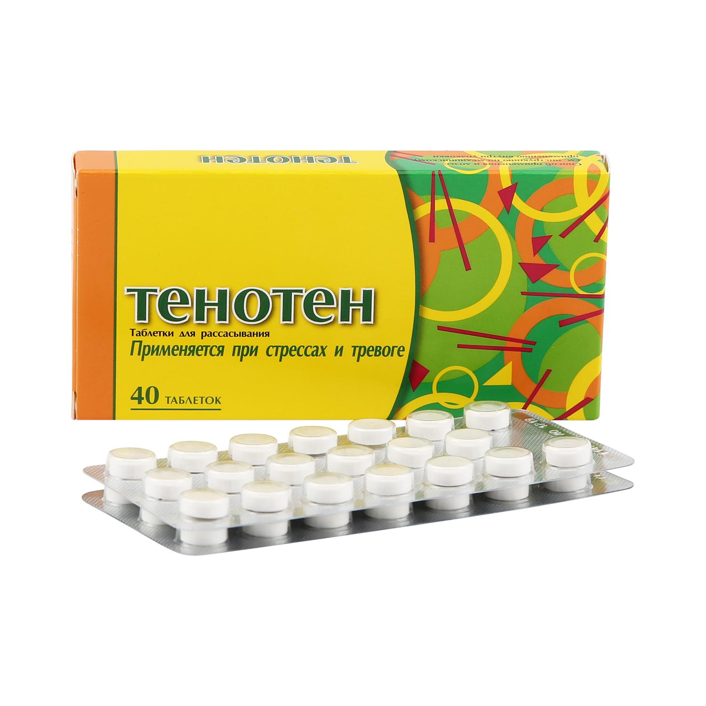 Купить Тенотен таблетки для рассасывания 40 шт., Materia Medica