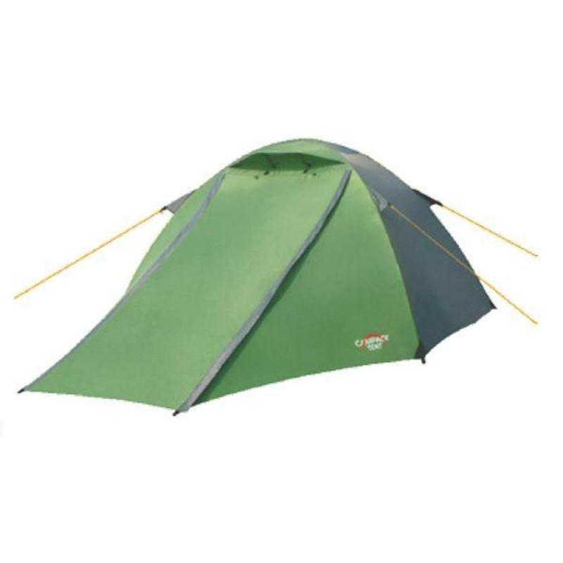 Палатка Campack-Tent Forest Explorer двухместная зеленая/желтая