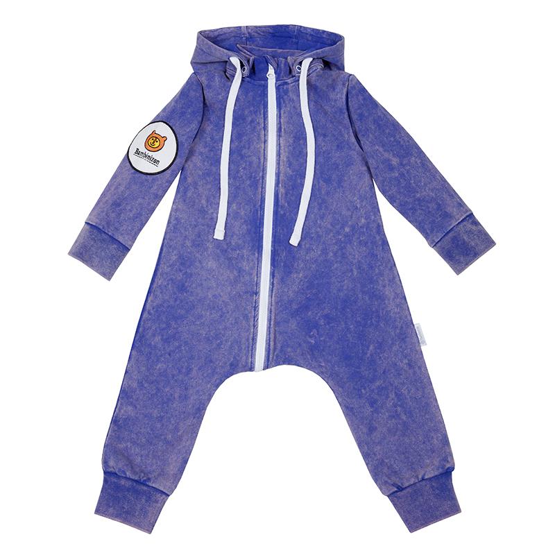 Купить Комбинезон Bambinizon из футера Варенка Синяя ТКМ-2-СВСИН р.56, Слипы и комбинезоны для новорожденных