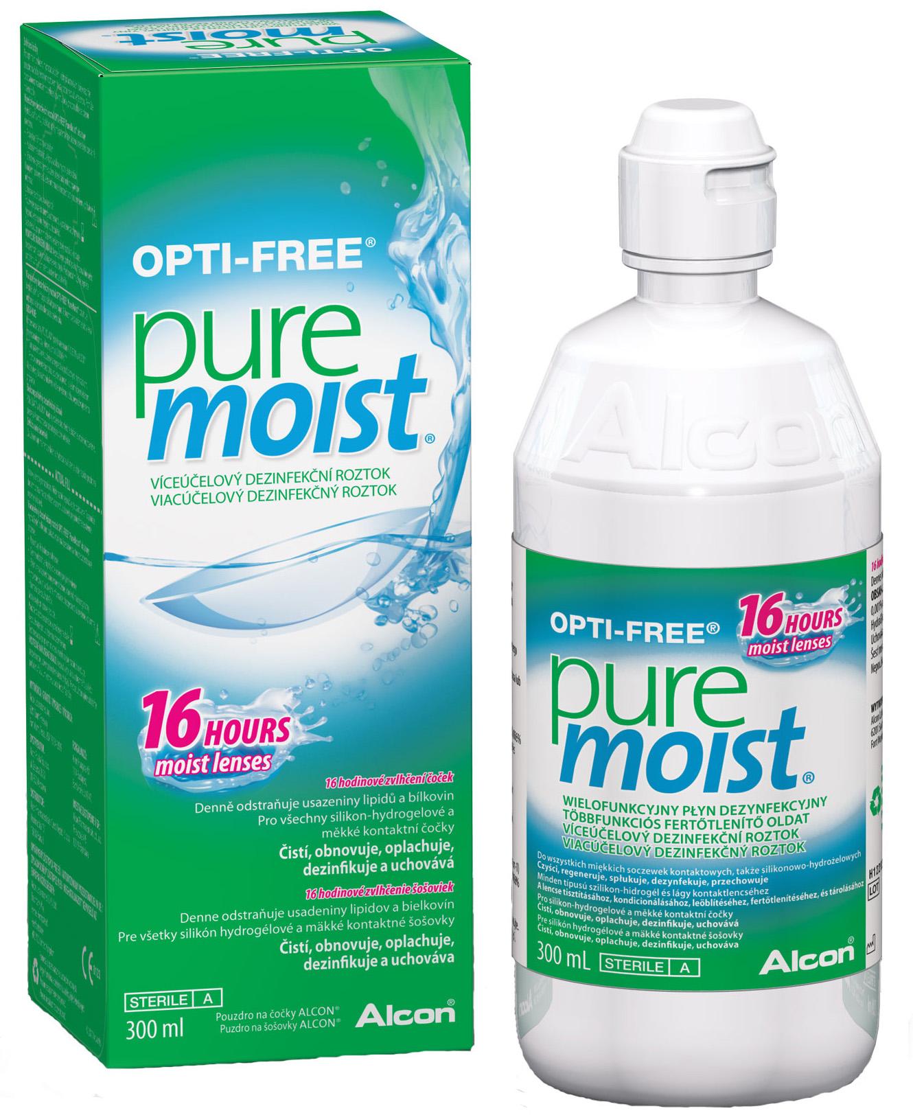 Раствор Alcon Opti Free Pure Moist