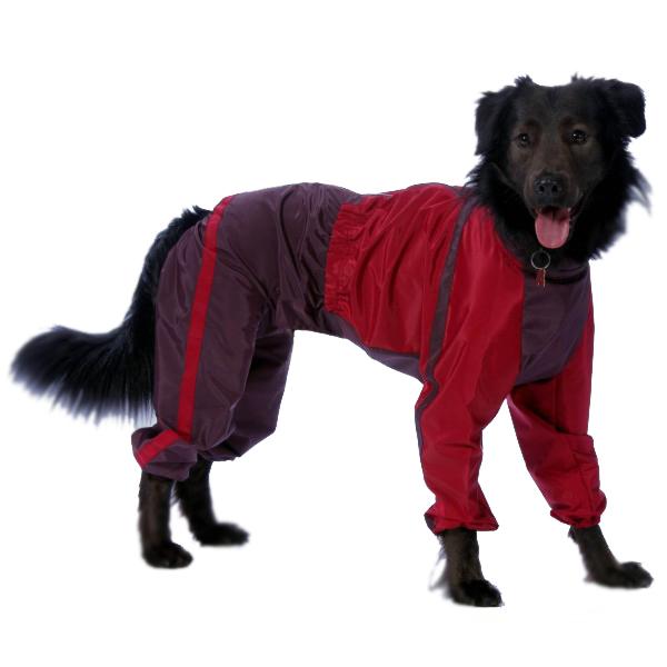 Комбинезон для собак ТУЗИК женский, красный, длина спины 61 см