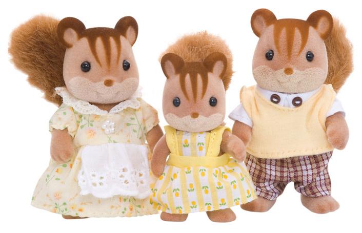 Купить Игровой набор Sylvanian Families Семья Белок (3 фигурки),