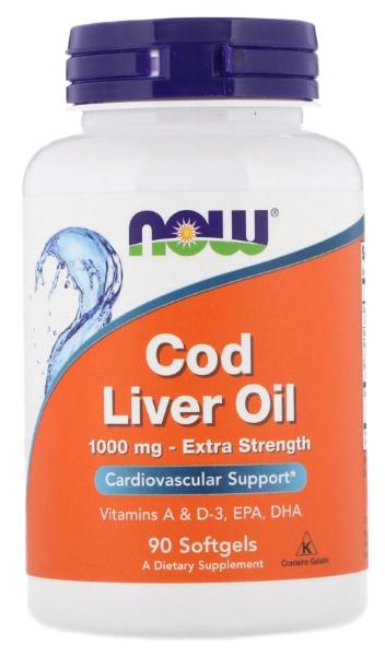 Купить Omega-3 NOW Cod Liver Oil 90 капс.