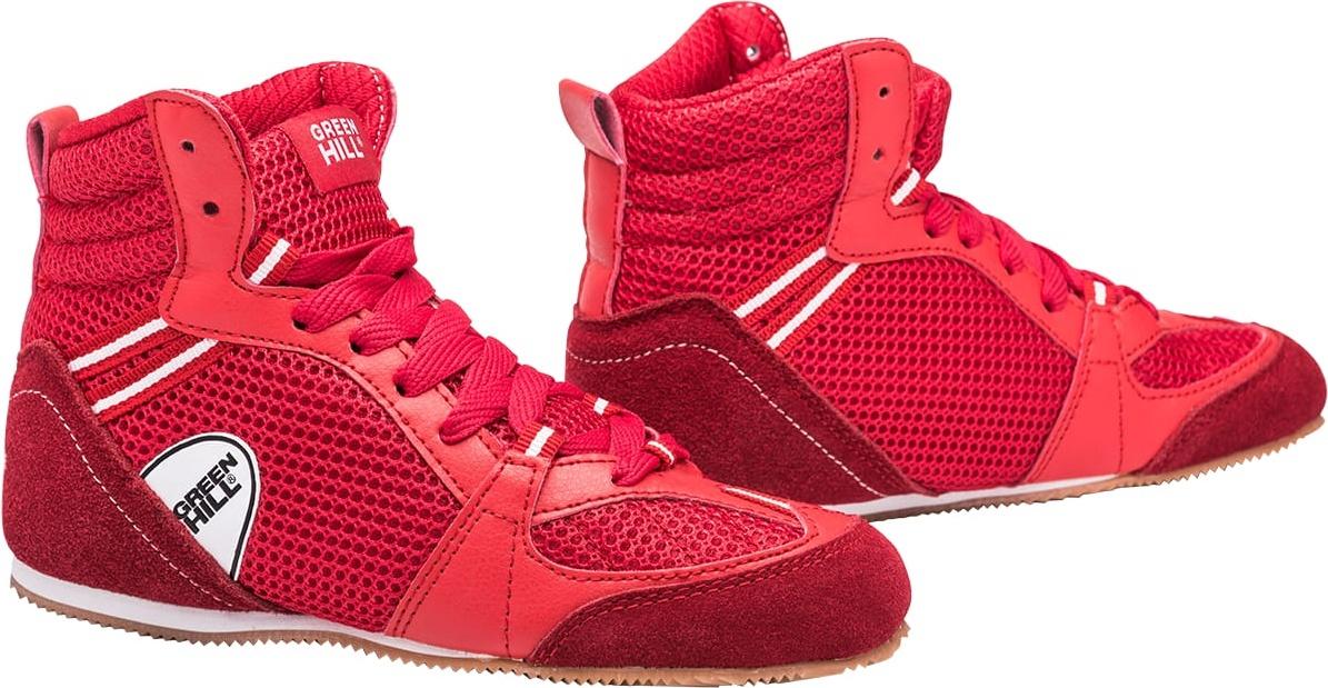 Обувь для бокса Green Hill PS006 низкая, красный