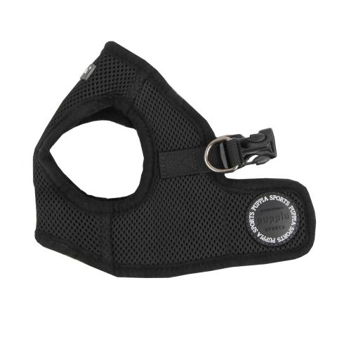 Шлейка для собак Puppia Soft Vest, черная, размер XL