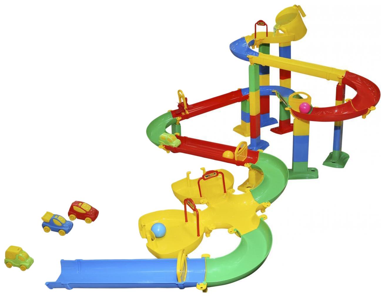Купить Парковки, гаражи, автотреки, Автотрек Wader Горка для шариков набор №4 52919_PLS, Детские автотреки