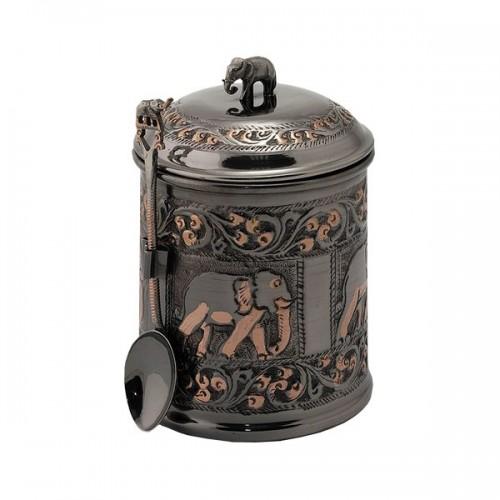 Чай весовой черный Ти Тэнг в чайнице черная бронза 100 г