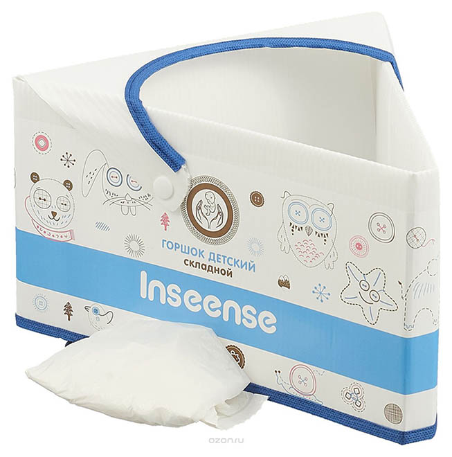 Горшок детский складной картонный Inseense (Ins007gsin)