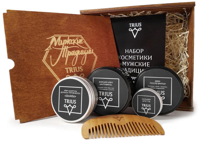 """Набор косметики для ухода за бородой и усами TRIUS """"Мужские традиции"""""""