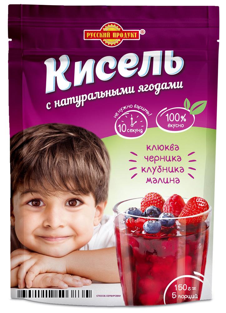 Кисель моментального приготовления лесные ягоды Русский Продукт zip-пакет 150 г