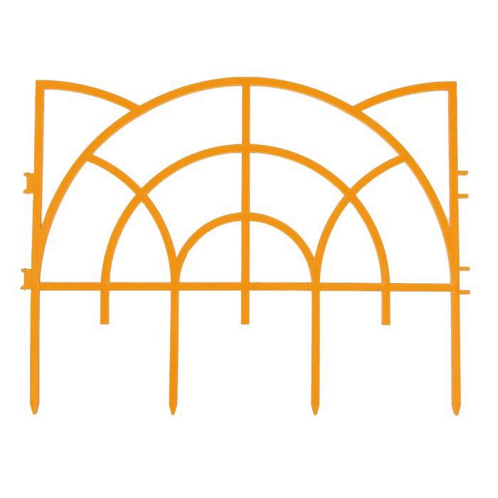 Декоративное ограждение Репка Роккоко оранжевый