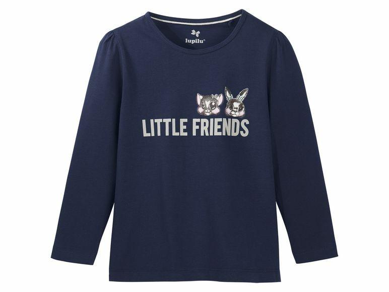 Купить Джемпер для девочки Lupilu синий р.86-92, Детские джемперы, кардиганы, свитшоты