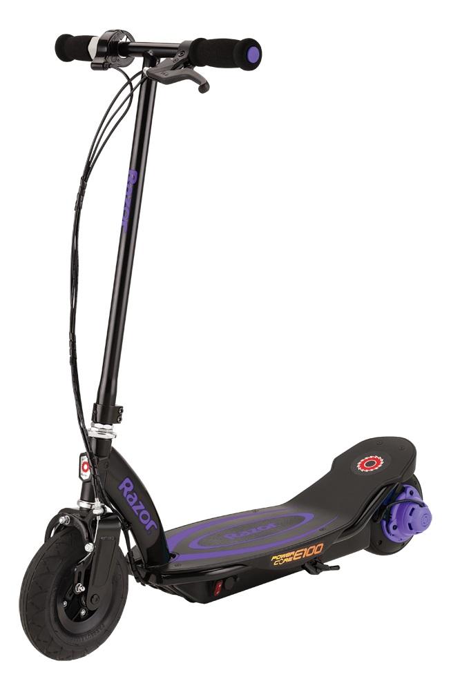 Купить Электросамокат Razor Power Core E100 фиолетовый, Детские электросамокаты