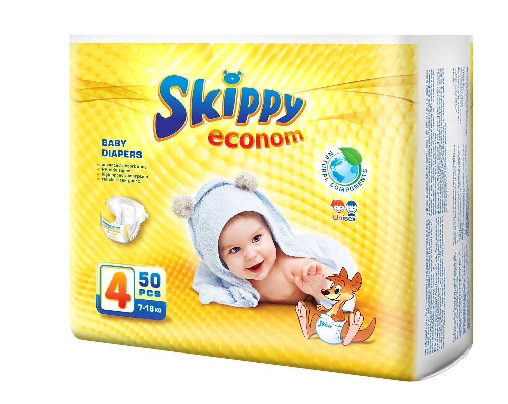 Подгузники Skippy Econom 4/L (7 18 кг),