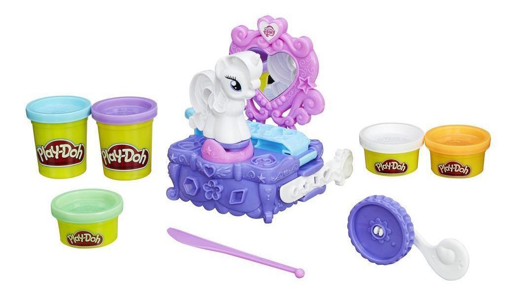 Туалетный столик Рарити, Набор для лепки из пластилина play-doh туалетный столик рарити b3400, Наборы для лепки Play-Doh  - купить со скидкой