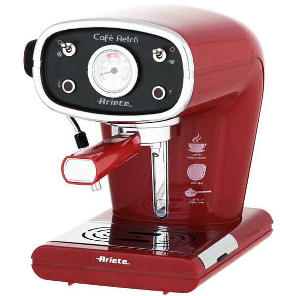 Рожковая кофеварка Ariete Retro 1388A Red
