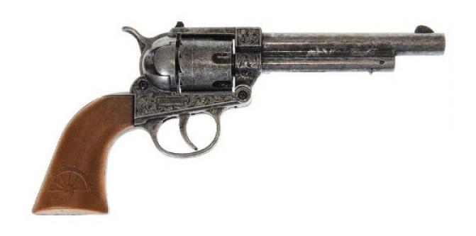 Купить Пистолет Frontier Metall Western, Пистолет игрушечный Frontier Metall Western 25 см, короб, Edison Giocattoli, Игрушечные пистолеты