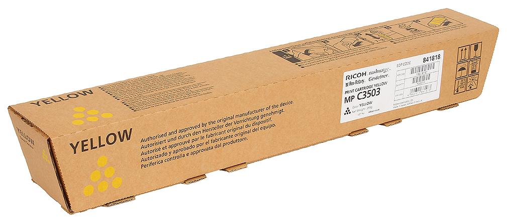 Картридж для лазерного принтера Ricoh MP C3503, желтый, оригинал фото