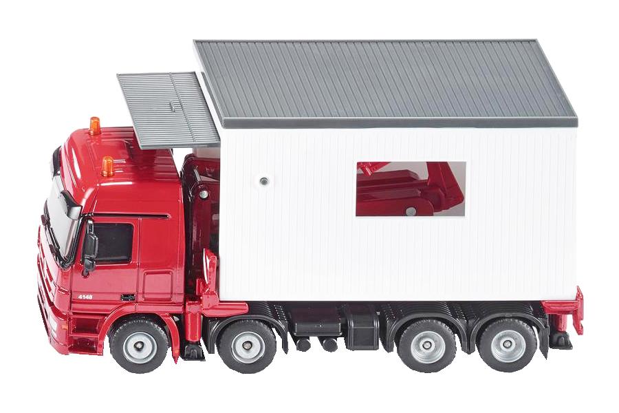 Купить Спецтехника Siku игрушка Траспортер с гаражом красный 3544, Строительная техника