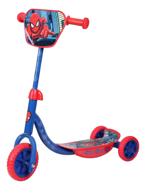 Купить Самокат трехколесный Marvel Spider-Man Т58466 синий-красный, Самокаты детские трехколесные