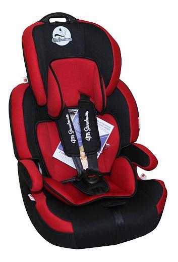 Купить Автокресло Mr Sandman Voyager Isofix группа 1/2/3, Черный, Красный, Детские автокресла