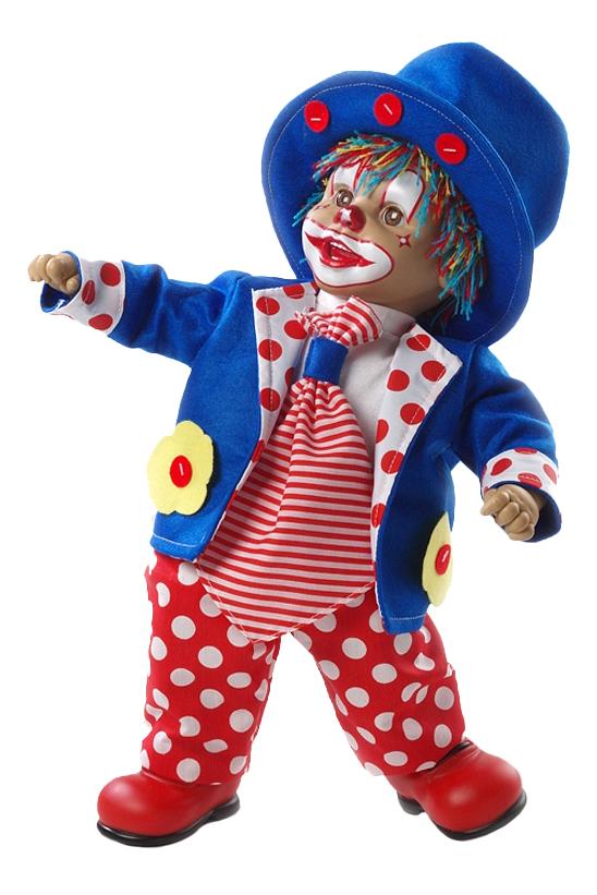 Клоун Arias в синей шляпе, 50 см фото