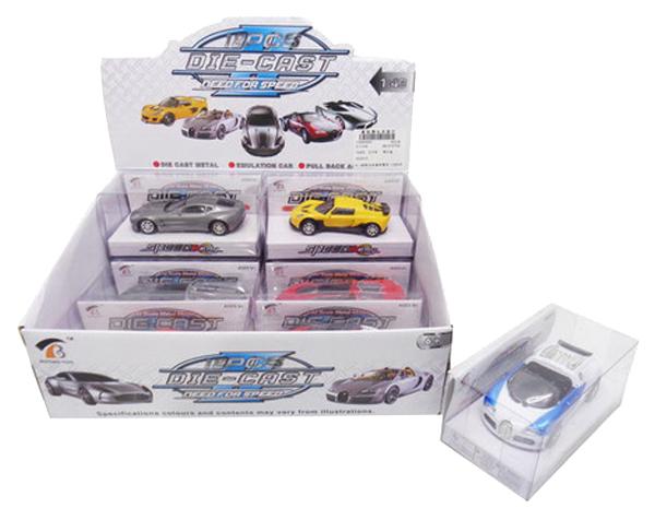 Коллекционная модель Junfa Toys машинка металлическая 1:43, 4 вида в ассоритменте