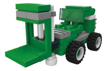 Конструктор пластиковый Складской погрузчик зеленый 33 детали