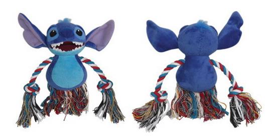 Мягкая игрушка для собак Triol Stitch с канатом, синяя, 15 см