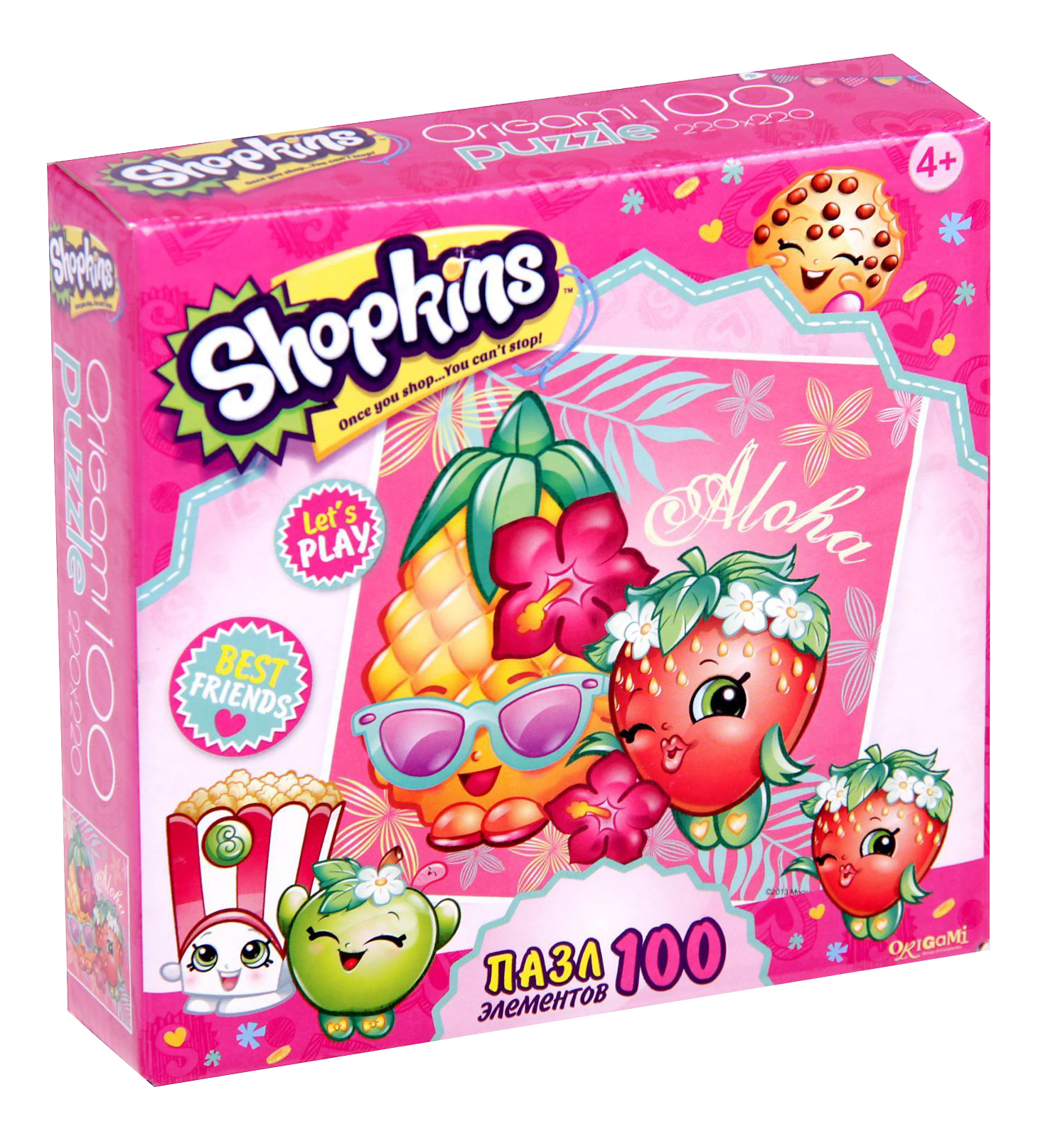 Купить Пазл Origami Shopkins Тропический остров 100 элементов, Пазлы